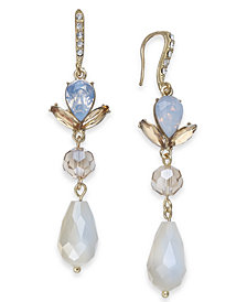 I.N.C. Gold-Tone Crystal & Bead Drop Earrings, Created for Macy's