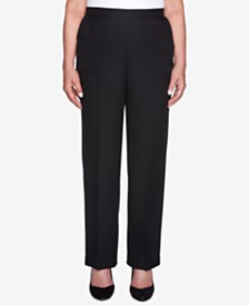 Alfred Dunner Shining Moments Pull-On Straight-Leg Pants