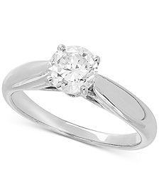 Lab Grown Diamond Solitaire Engagement Ring (1 ct. t.w.) in 14k White Gold