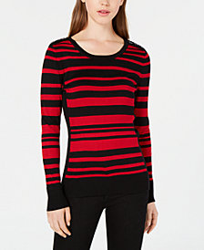 BCX Juniors' Long-Sleeve Striped Sweater