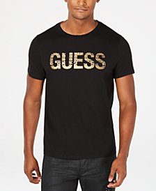 GUESS Mens Royal Logo Graphic T-Shirt