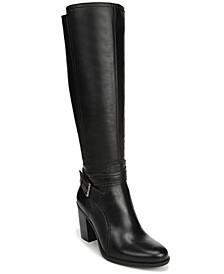 Kelsey Wide Calf Leather Riding Boots