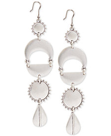 Lucky Brand Silver-Tone Geometric Statement Earrings