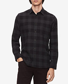 Calvin Klein Men's Applied Placket Plaid Shirt