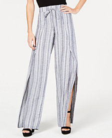 I.N.C. Striped Wrap Pants, Created for Macy's