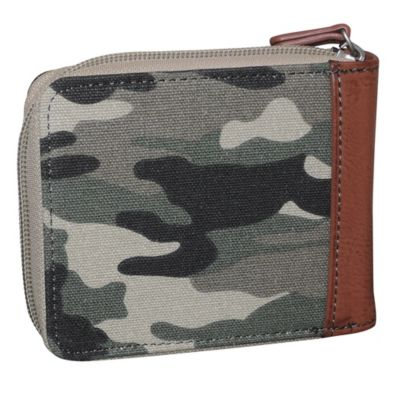 Men/'s Buxton Camo  Military ID Trifold Wallet,Green