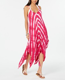 Raviya Tie-Dyed Handkerchief-Hem Dress Cover-Up