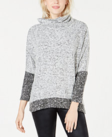 Bar III Colorblocked Bouclé Sweater, Created for Macy's