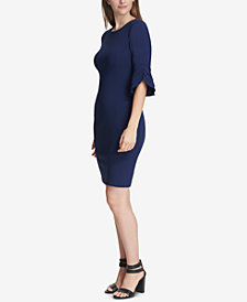 DKNY Triple Ruffle-Sleeve Dress, Created for Macy's
