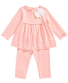 First Impressions Baby Girls 2-Pc. Bow Tunic & Leggings Set, Created for Macy's