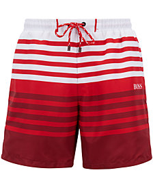 BOSS Men's Striped Swim Shorts