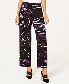 Alfani Swirl-Print Pull-On Pants, Created for Macy's