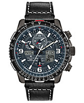 Citizen Eco-Drive Men s Analog-Digital Promaster Skyhawk A-T Black Leather  Strap Watch 46mm be4f1158e5