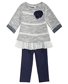 First Impressions Baby Girls 2-Pc. Textured Tunic & Leggings Set, Created for Macy's