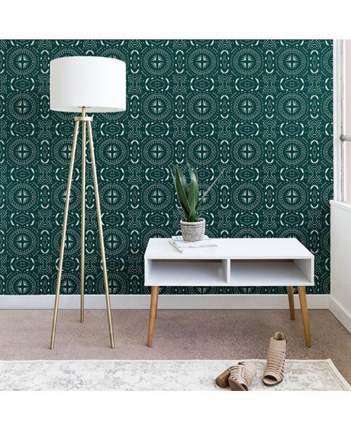 Deny Designs Holli Zollinger Mandala Tile Marine 2'x10' Wallpaper
