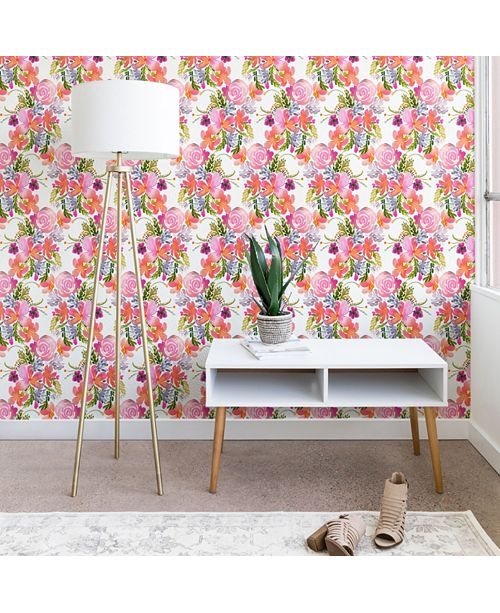 Deny Designs Ninola Design Flowers Sweet Bloom Pink 2'x10' Wallpaper