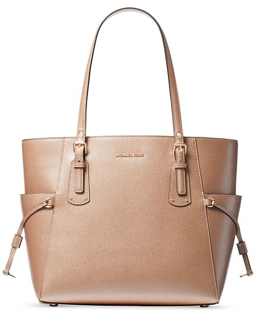 47a78a925a5b Michael Kors Voyager East West Crossgrain Leather Tote & Reviews ...