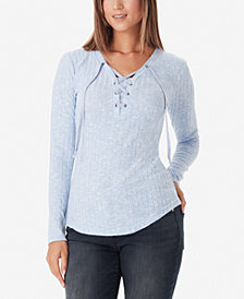 WILLIAM RAST Phoebe Lace-Up Top