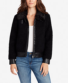 WILLIAM RAST Tanner Faux-Fur-Trim Bomber Jacket