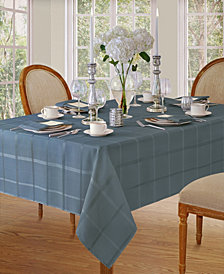 Elrene Elegance Plaid Blue Shadow Table Linen Collection