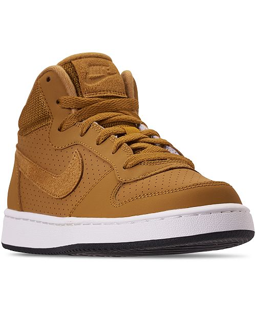 0f40483cdc9 Nike Boys  Court Borough Mid Premium Casual Sneakers from Finish ...