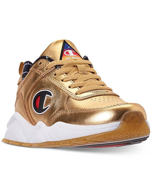48d71a0f5e5 ... Champion Boys  93Eighteen Metallic Athletic Training Sneakers from  Finish ...