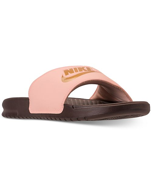 c1aadea2b959 Nike Women s Benassi JDI Swoosh Slide Sandals from Finish Line ...