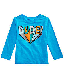 First Impressions Toddler Boys Cotton Dude T-Shirt, Created for Macy's