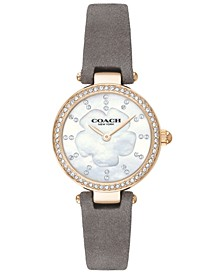 Women's Park Gray Leather Strap Watch 26mm