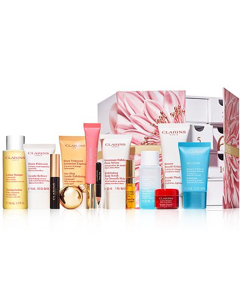 Clarins 12-Pc. Festive Surprises 12-Day Advent Calendar Set