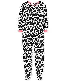 Carter's Little & Big Girls Heart-Print Fleece Pajamas