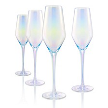 Luster Clear Flutes - Set of 4