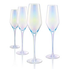 Artland Luster Clear Flutes - Set of 4