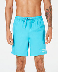 "Calvin Klein Men's Logo 7"" Swim Trunks"