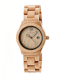 Earth Wood Pith Wood Bracelet Watch W/Date Khaki 40Mm