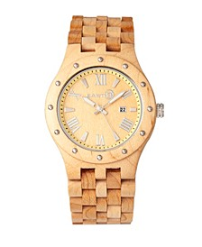 Inyo Wood Bracelet Watch W/Date Khaki 46Mm