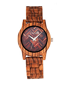 Earth Wood Crown Wood Bracelet Watch Olive 41Mm