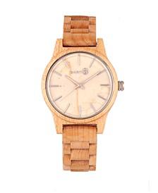 Tuckahoe Marble-Dial Wood Bracelet Watch Khaki 40Mm