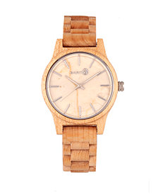 Earth Wood Tuckahoe Marble-Dial Wood Bracelet Watch Khaki 40Mm