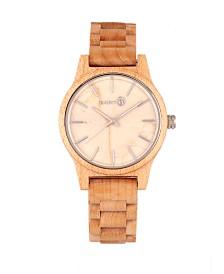 Earth Wood Tuckahoe Marble-Dial Wood Bracelet Watch Khaki 40Mm