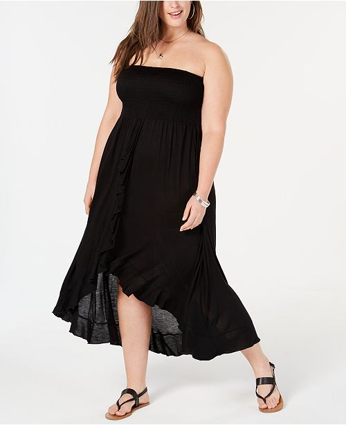 Plus Size Tube Dress Cover-Up