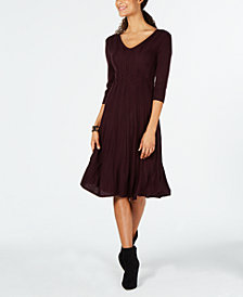 Connected Petite V-Neck Sweater Dress