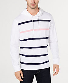 Club Room Men's Pop Stripe Hoodie, Created for Macy's