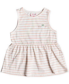Roxy Little Girls Striped Cotton Tank Top