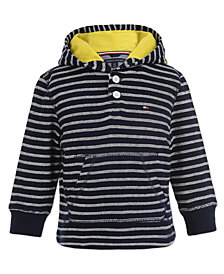 Tommy Hilfiger Little Boys Striped Pullover Hoodie
