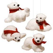 National Tree 4-Piece Polar Bear Assortment