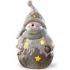 "National Tree 17"" Lighted Snowman Décor Piece"