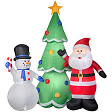 National Tree AirblownSanta and Snowman Tree