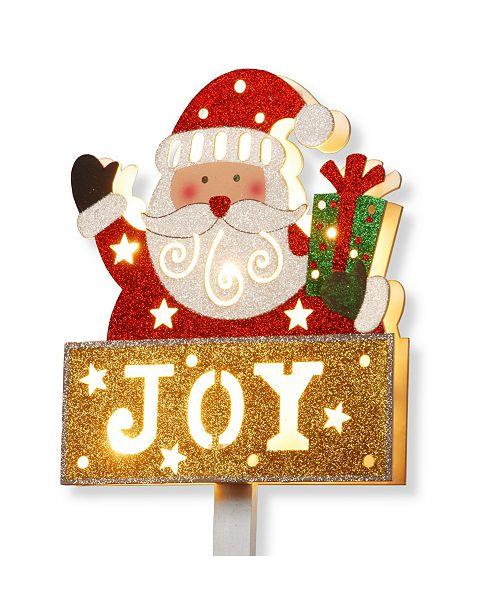 """National Tree Company National Tree PreLit 35"""" Santa with JOY Sign"""
