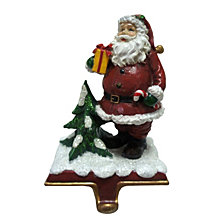 "National Tree Company 6.5"" Santa holding a Gift Stocking Holder"